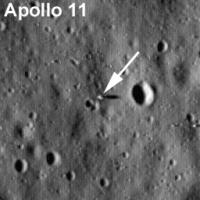 """Место посадки """"Аполлон-11"""" (LRO, сентябрь 2009 г)"""
