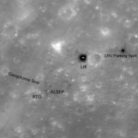 Место посадки Аполлона-16 (LRO, 8 июля 2010 г)
