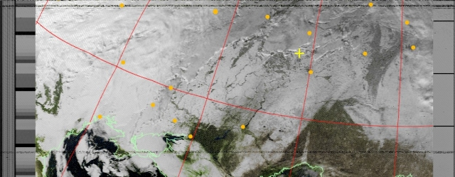 Снимки  из Космоса  над Ульяновском  10 января 2011 года  13час.05мин.